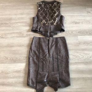 Bebe Brown Suit